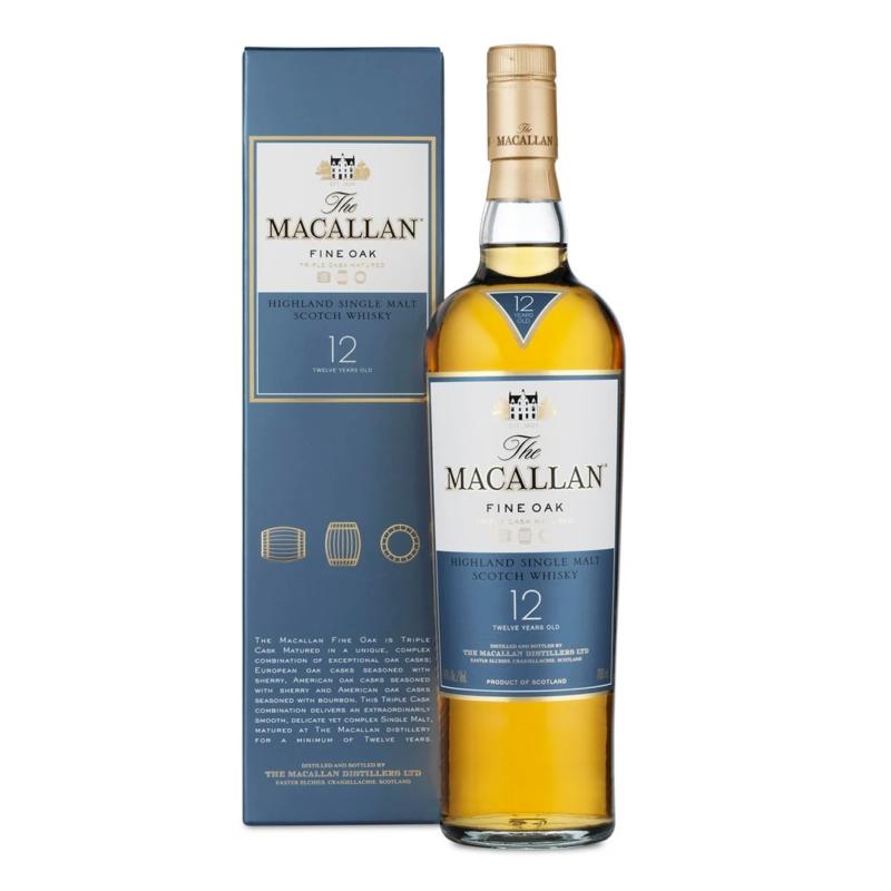 Macallan Fine Oak 12 Year Old WHISKY